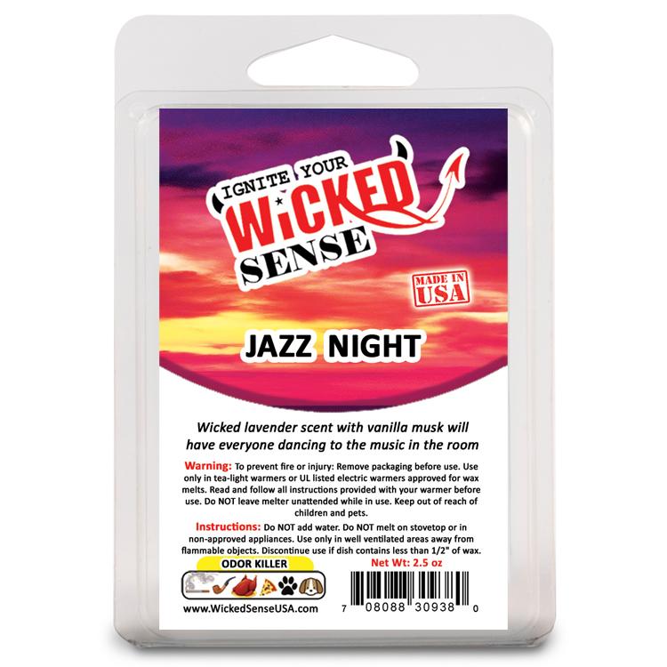 Wicked Sense Usa Jazz Night Hand Poured Wax Meltswicked